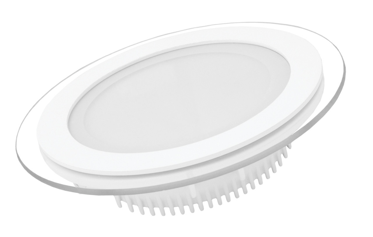 LED Светильник EUROLAMP круглый GLASS Downlight 6W 3000K