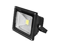 LED Прожектор EUROELECTRIC COB черный 20W 6500K classic