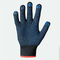 Перчатки рабочие трикотажные Eurosiz с ПВХ точкой 8611