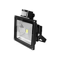 LED Прожектор EUROELECTRIC COB с датчиком движения 20W 6500K