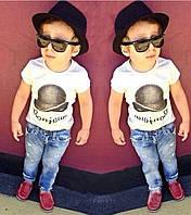 """Модный детский комплект с джинсами для мальчика """"Бонжур"""""""