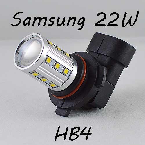Автомобильная LED лампа SL LED  в противотуманные фонари Цоколь HB4(9006) 22W Линза, 6000K