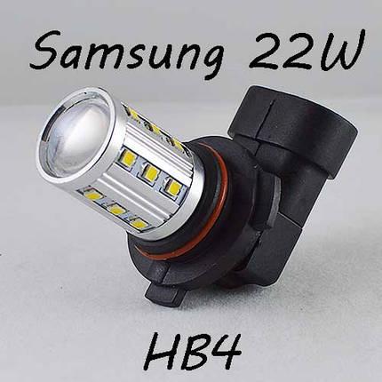 Автомобильная LED лампа SL LED  в противотуманные фонари Цоколь HB4(9006) 22W Линза, 6000K, фото 2
