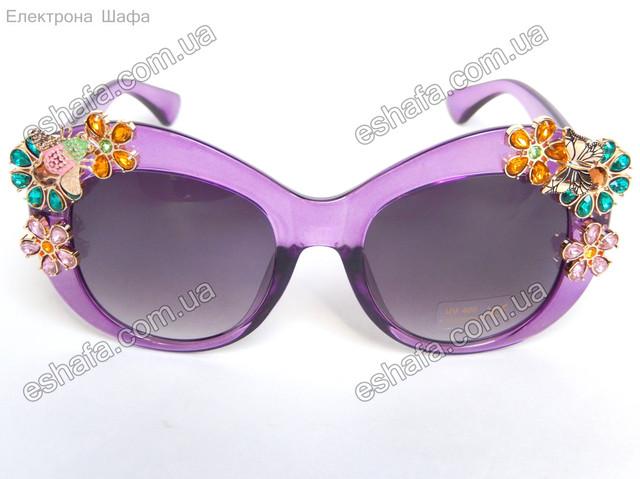 солнцезащитные очки  с цветами