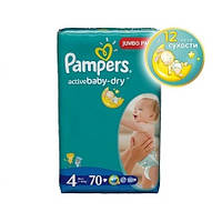 Подгузники Pampers Active Baby-Dry Maxi 4 (7-14 кг) 70 шт