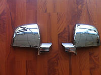 Накладки на зеркала Fiat Doblo 2010+ (пластик)