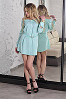 Платье рубашка стрейч-вискоза