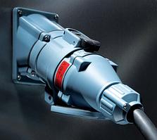 Силовой промышленный разъем 200 А ампер вилка кабельная + розетка на корпус цена купить