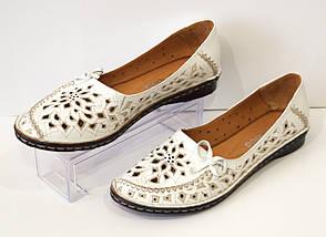 Балетки женские белые Euromoda 1459, фото 2