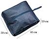Объемная сумка-пыльник для обуви на молнии (синий), фото 2