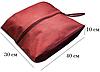 Объемная сумка-пыльник для обуви на молнии (бордовый), фото 2