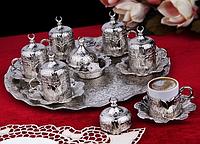 Набор чашек для кофе Серебрянный тюльпан на 6 персон