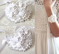 """""""Воздушное облако"""" свадебный браслет на руку с цветами для невесты или свидетельницы"""