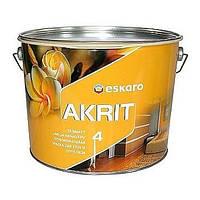 Краска Akrit 4 Eskaro глубокоматовая Акрит 4, 9.5л