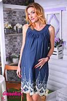 Сарафан для будущих мам из тонкого джинса с вышивкой-С-М