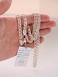 Срібна ланцюжок Бісмарк, 60 див., 30 гр., фото 5