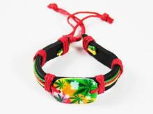 Разноцветный браслет в растаманском стиле