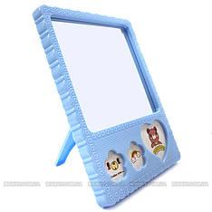 YRE - Зеркало настольное 1-сторон. 982 (среднее, на ножке рамка, 13,5х17,5см)