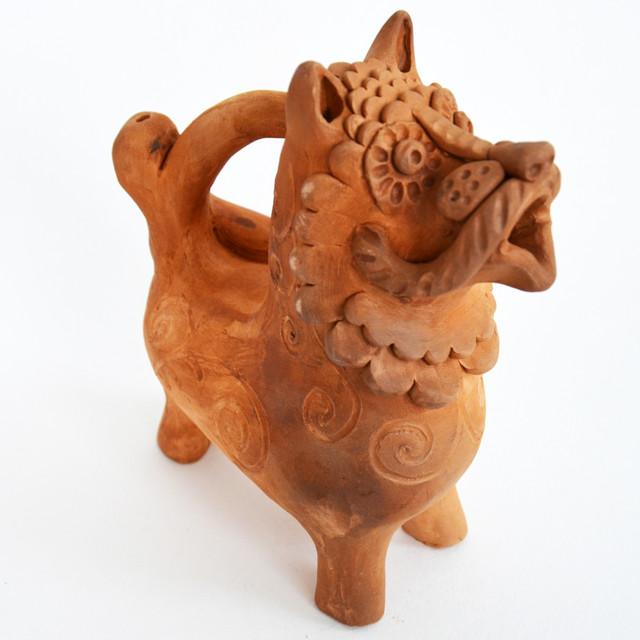 Глиняная скульптура Огнегривый Лев
