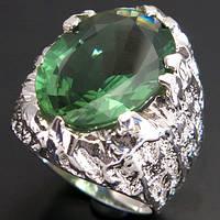 Кольцо серебро 925 пробы зеленый аметист 9,95 карат