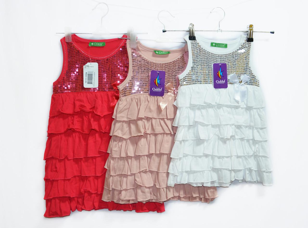 Платье детское летнее.Отменное качество Рост от 98 до 140. Chiklend 0034