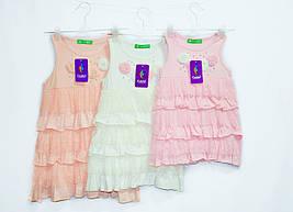 Платье летнее фирменное отличного качества. Рост от 98 до 134.  Chiklend 0037