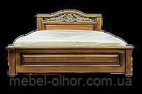 Кровать из дерева Вера (с кованным элементом) двуспальная