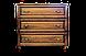 Кровать из дерева Вера (с кованным элементом) двуспальная, фото 3