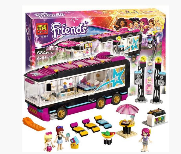 Конструктор Bela Friends Поп звезда: гастроли 10407 (Аналог Lego 41106) 684 дет