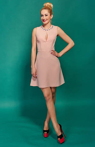 Молодежное платье с декором, фото 2