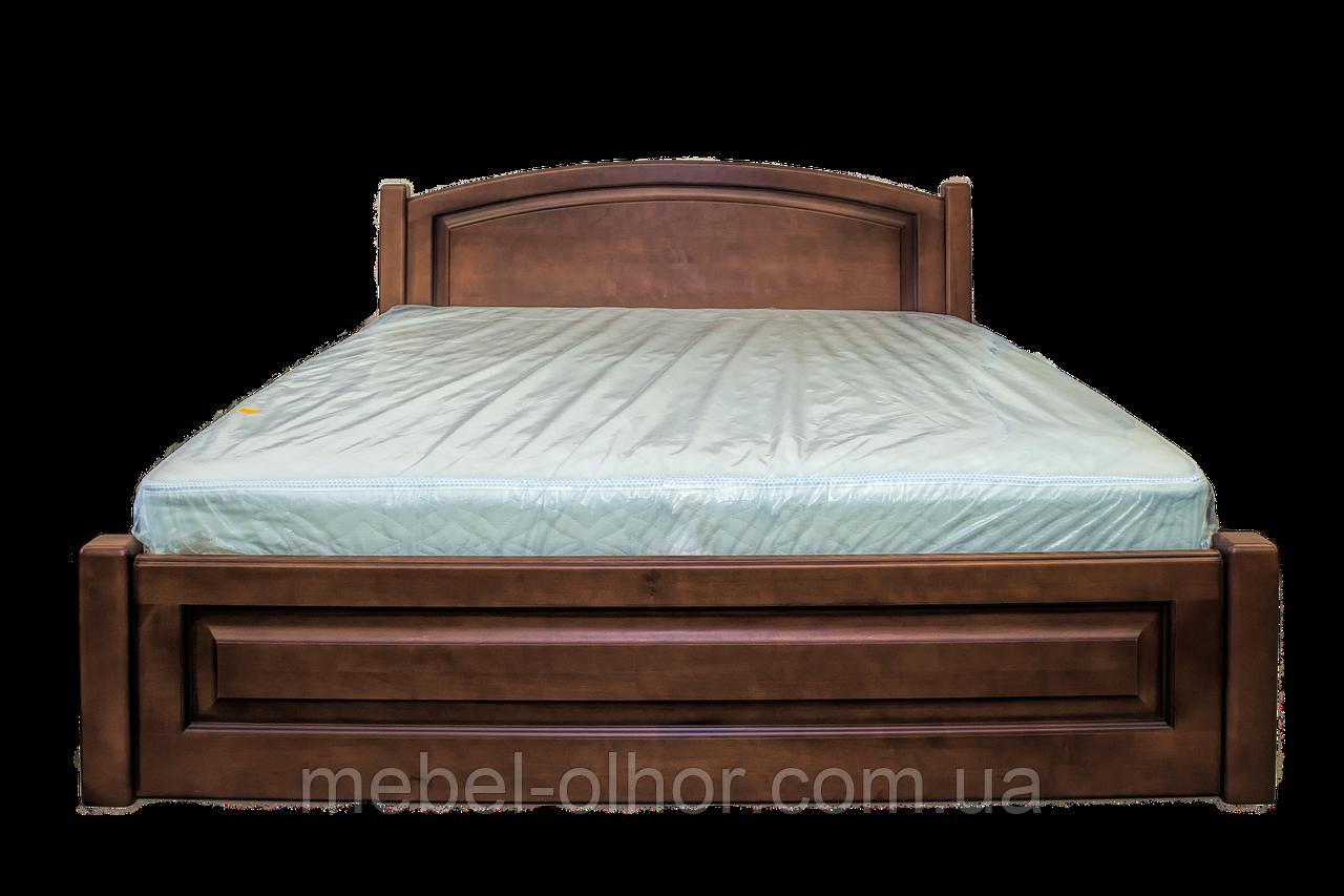 Кровать двуспальная из дерева Верона (коньяк)