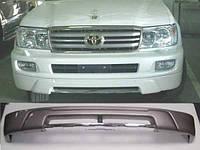Накладка на передний бампер Toyota Land Cruiser 100 (03-06)