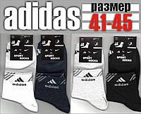 Мужские спортивные носки с сеткой ADIDAS 41-45р. НМЛ-134