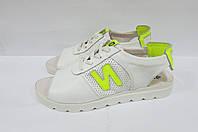 Женские сандалии ND 563 белые натуральная кожа код 0243А