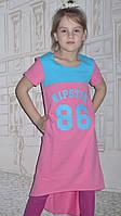 Платье-футболка(розовое-барби)