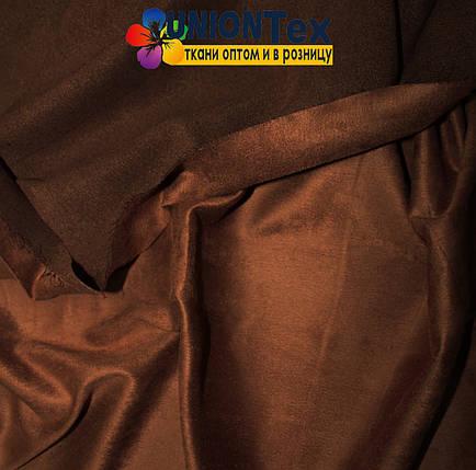 Искусственная замша медно-коричневая, фото 2