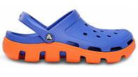 Мужские кроксы Crocs Duet Sport Clog Blue Orange