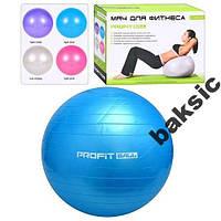 Мяч для фитнеса (фитбол) Profit 65 см + насос