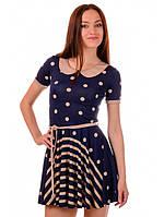 "Платье летнее темно-синее ""Миледи"", фото 1"