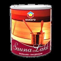 Сауналак Sauna lakk Eskaro лак для влажных помещений 2.4л