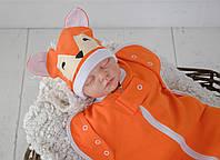 Безразмерная пеленка кокон на молнии Каспер, Лиса, фото 1