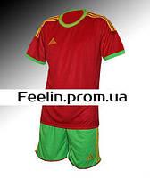 Футбольная форма игровая Adidas (Адидаc красная\зеленая)