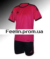 Футбольная форма игровая Adidas (Адидаc малиновая\черная)