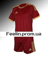 Футбольная форма игровая Adidas (Адидаc бордо\золото)