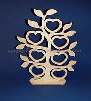 Дерево с сердечками заготовка для декупажа и росписи (материал Фанера)