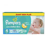 Подгузники Pampers Active Baby-Dry Giant Box Plus 4 (7-14 кг) 106 шт