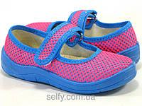 Тапочки для девочки ортопедические, синяя подошва
