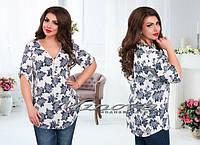 Штапельная рубашка Габби(размеры 52-56)