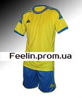 Футбольная форма игровая Adidas (Адидаc желтая\синяя)