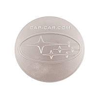 Колпачки заглушки для литых дисков Subaru серый